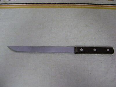 "Vintage ""Hollow Ground"" Stainless USA Slicer Kitchen Knife ~ 8"" Blade ~"