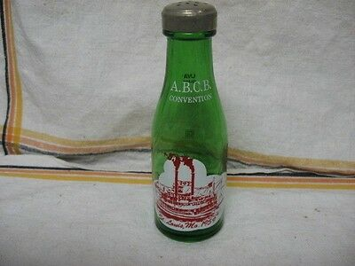 RARE Vintage 1956 ABCB CONVENTION St. Louis MO GREEN UVA BOTTLE ~ Glenshaw PA ~
