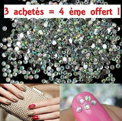 1000× Strass 3D Style Diamant Crystal déco ongle manucure BRILLANT 2 mm