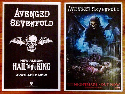 AVENGED SEVENFOLD Hail To The King | Nightmare Ltd Ed 2 RARE Posters! Stage A7X