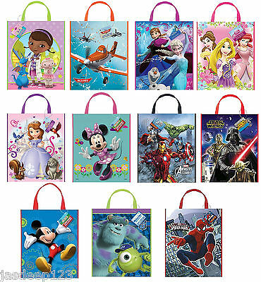 Disney Party Tote Bags Character Party Supplies Gift Loot Kids Birthday Unisex