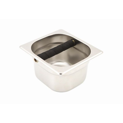 PRO Stainless Steel Coffee Knock Out Pot Gastronorm STRONG Rubber Bar Box Locker