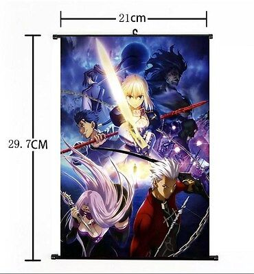 """Hot Japan Anime Fate Stay//Night FGO Poster Wall Scroll Home Decor 8/""""x12/"""" F180"""