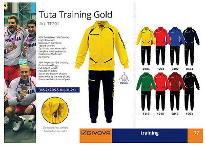 Givova Tuta Training Gold Art. Ttg01 In Varie Taglie E Colori
