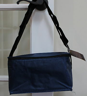 Lunch Tote Insulated Stars Yellow Blue Pocket Front Designer Sturdy Travel Bag