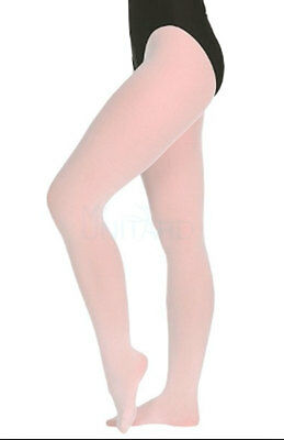 Body Wrappers C80 Girl's Size Medium/Large (8-14) Ballet Pink Full Footed Tights