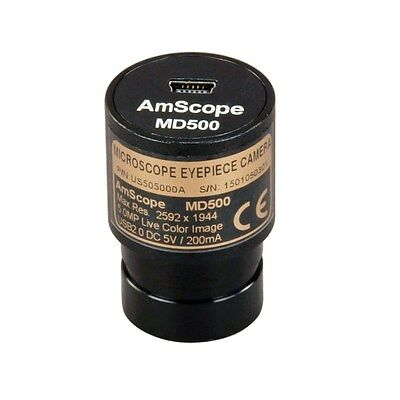 AmScope 5MP Digital USB Microscope Camera with Software