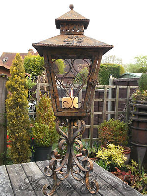 Antique French Vintage Style Large Carriage Lantern Candle Holder Home / Garden