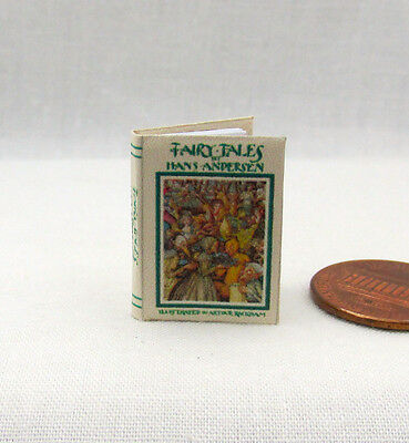 FAIRY TALES by HANS ANDERSEN Miniature Book Dollhouse 1:12 Scale Illustrateted