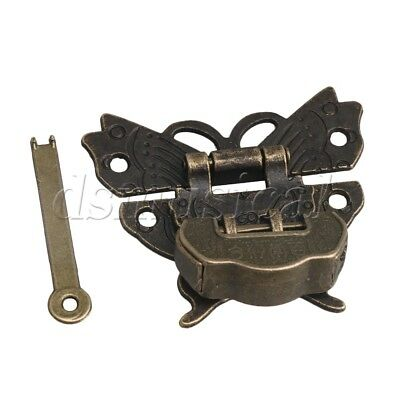 Chinese Blessing Lock + Latch Butterfly Buckle Clasp For Cabinet Jewelry Box