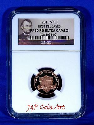 2015 S Lincoln Penny First Releases NGC PF70 RD Ultra Cameo Portrait Label