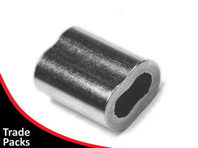 Swage - 4mm, Nickel Plated Copper Ferrule - Hand Swaging 4.0mm Stainless Wire