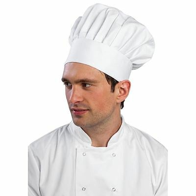 Men's Whites Tallboy Hat Cotton Kitchen Catering Domestic Chef Cap New Features