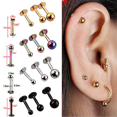 Best 5x Tragus Helix Bar - Cartilage Top Upper Ear Earring Labret piercing jewel