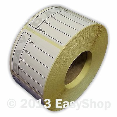 Easy Black Day Dot Food Date Rotation and Hygiene1000 Labels in Packs 50 X 50mm