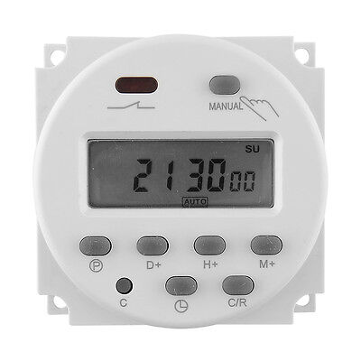 New 12V 16A LCD Display Programmable Time Timer Relay Switch for Light Fans # #