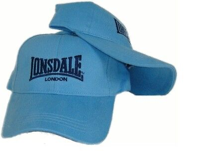 New Lonsdale London Cap Hat Mens Womens Unisex Sky Blue Baseball Cap
