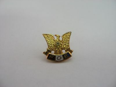 FOE Fraternal Order of Eagles Clear Jewel Vintage Award Pin