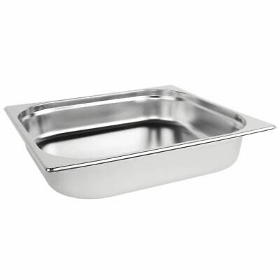 Vogue Stainless Steel 2/3 Gastronorm Pan 5.5Ltr/65mm Deep Food Container