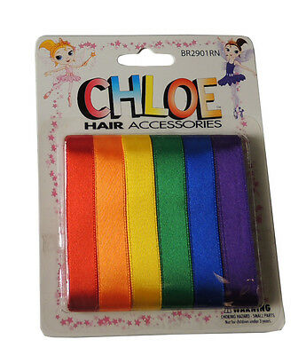 "Back To School Hair Ribbons Primary RAINBOW COLORS 36"" Ribbon DIY Bows Streamers"