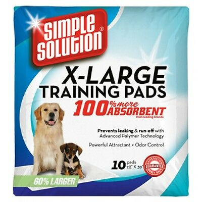 Simple Solution XL Training Pads, pack of 10, Puppies, ill/housebound dogs