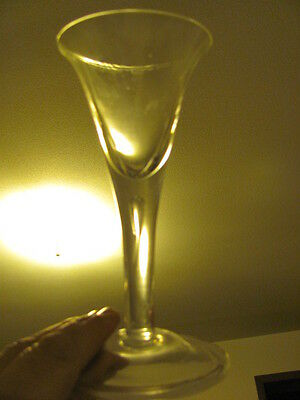 EAPG ca.1830 Flint -  Air Gap Fluted and Flared Champagne Glass - EXC.