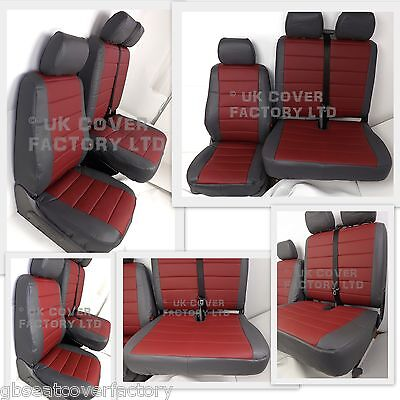 Vauxhall Vivaro  Van Seat Covers Made To Measure Quilted  Pvc Leather  A120J