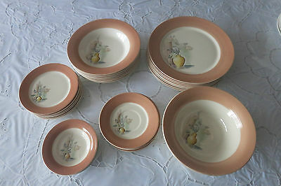 VTG AMERICAN LIMOGES TRIUMPH DINNER WARE DUSTITONE BIEGE 35 PCS. EXTREMELY RARE
