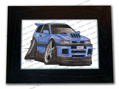 NISSAN PULSAR GTI R Official Koolart Quality Glass Framed Picture 3 FOR 2