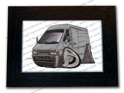 RENAULT MASTER VAN Official Koolart Quality Glass Framed Picture 3 FOR 2