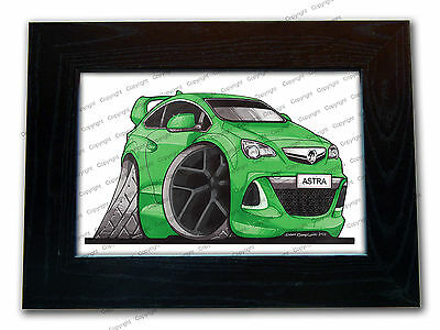 VAUXHALL ASTRA VXR New Shape Official Koolart Quality Glass Framed Picture