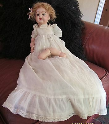 "Antique 13"" Armand Marseille Composition Baby Girl Doll Germany 996 A 2/0 M"