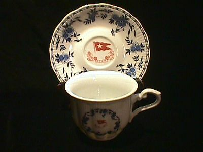 White Star Line Titanic Second Class Cup and Saucer!