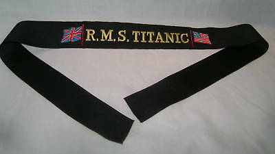 White Star Line Titanic 1912 Hat Tally! Free Shipping!