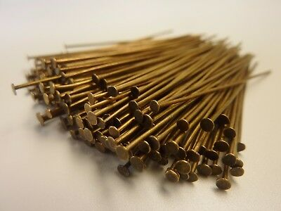 200 pce Antique Bronze Tone Straight Head Pins 50mm long Jewellery Making