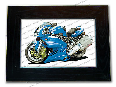 DUCATI SUPERSPORT 900 Motorbike Official Koolart Quality Glass Framed Picture