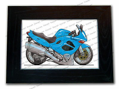SUZUKI 600 GSXF Motorbike Official Koolart Quality Glass Framed Picture 3 FOR 2