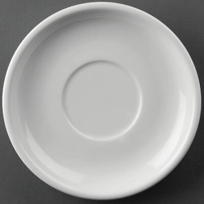 24 X Athena Hotelware Saucers 145Mm White Porcelain Chip Resistant