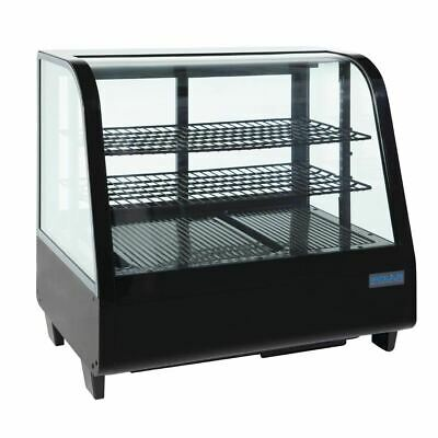 Polar Countertop Refrigerated Display in Black with ABS ?rame CFC Free