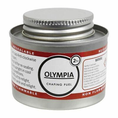12 X Olympia Liquid Chafing Fuel With Wick 2 Hour Heating Warming Buffet