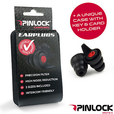GENUINE PINLOCK MOTORCYCLE EAR PLUGS Advanced For Biker Filter Earplug FREE UKPP
