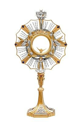 Ostensorio cesellato dorato Monstrance chiseled ostensoir Monstranz monstrancja