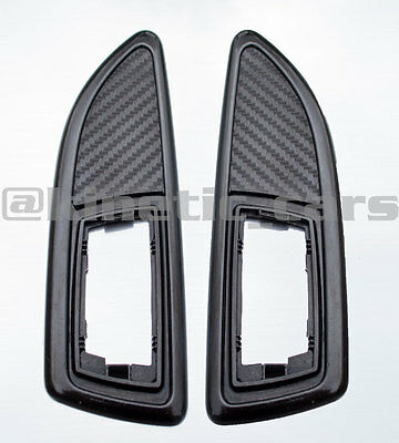 Vauxhall Corsa VXR carbon fibre effect side wing repeater indicator surrounds.
