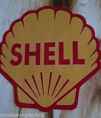 "Oldschool Sticker "" Shell Youngtimer  ""  Aufkleber / OEM - JDM German Ratrod"