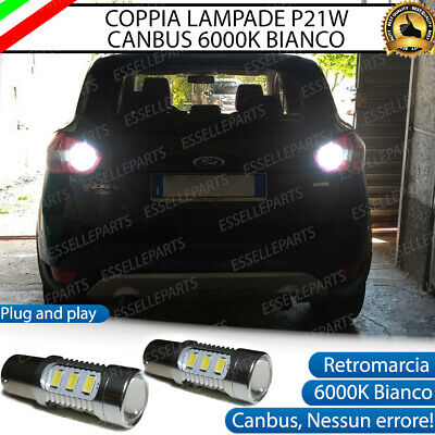 Coppia Lampade Retromarcia 15 Led P21W Canbus Ford Kuga 6000K No Error