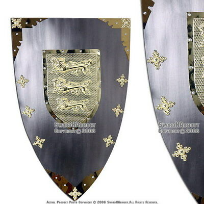 King Richard the Lionheart Medieval Knight Shield Renaissance Armor