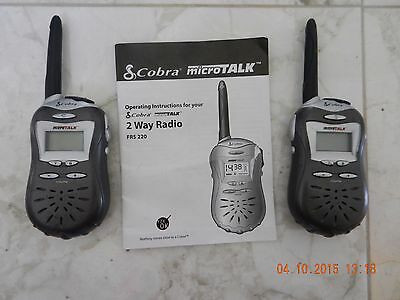 Cobra MicroTalk FRS 220 2-Way Radio Walkie Talkies / Manual