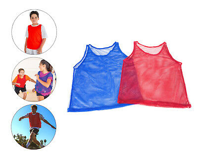 Pinnies Youth Practice Team Jerseys Mesh Scrimmage Training Vest Sports Red Blue