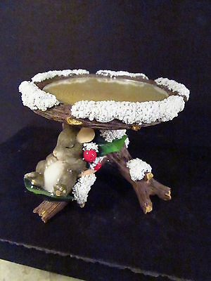 Charming Tails 92/503 HOLLY DAY DREAMS Mouse Pillar Candle Holder