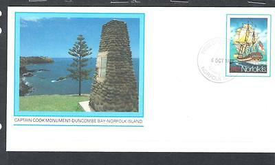 Norfolk Island Pre Stamped #1 FDC - Captain Cook Monument